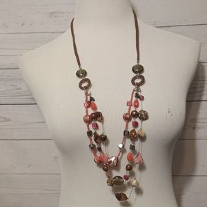Stone and glass beads necklace